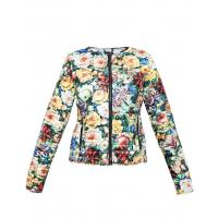Monnari Pikowana kurtka w kwiaty JAC0600