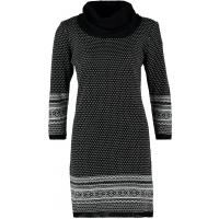 Anna Field Sukienka dzianinowa black/white AN621C0M1-Q11