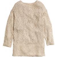 H&M Sweter oversize z lnem 87658-A