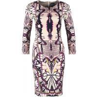 Just Cavalli Sukienka etui purple/white JU621C04F-J11