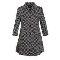 Monnari Wzorzysty, krótki płaszcz COT0280