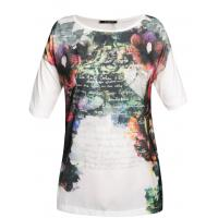 Monnari T-shirt z romantycznym nadrukiem TSH3210