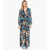 H&M Długa suknia z szyfonu 89104-B