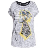 Monnari Wzorzysty t-shirt z etno nadrukiem TSH0410