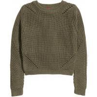 H&M Pattern-knit jumper 0228471012 Khaki green