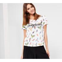 Reserved T-shirt z nadrukiem LH604-01X