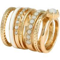 H&M Pierścionki 7-pak 0222246011 Gold/White