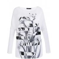 Monnari T-shirt z biało-czarną grafiką TSH4600