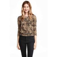 H&M Patterned cotton cardigan 0312714010 Beige