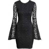 H&M Koronkowa sukienka 0323167003 Czarny