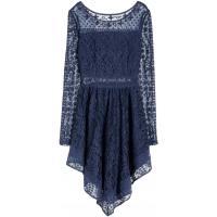 H&M Koronkowa sukienka 0319976002 Ciemnoniebieski