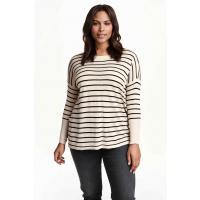 H&M H&M+ Cienki sweter 0292436002 Czarny/Paski