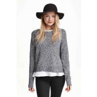 H&M Sweter 0319185007 Czarny melanż