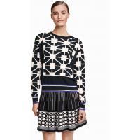 H&M Jacquard-knit jumper 0321456004 Black/White