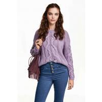 H&M Cable-knit jumper 0328668001 Purple