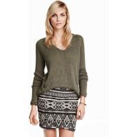 H&M Knitted jumper 0250582014 Khaki green