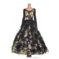 Eva Minge Rozkloszowana sukienka w kwiatowy wzór multikolor