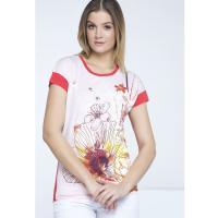 Monnari Letni t-shirt z kwiatami TSH1430