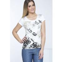 Monnari T-shirt z wiosennym printem TSH0340
