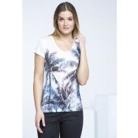 Monnari T-shirt z palmami TSH2580