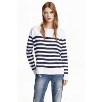 H&M Sweter 0350447001 Biały/Paski