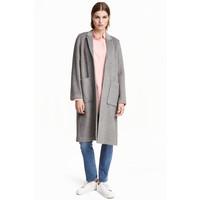 H&M Filcowy płaszcz 0390163001 Szary melanż
