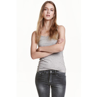 H&M Dżersejowa koszulka 0355072024 Szary