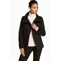 H&M Dwurzędowa kurtka 0390162001 Czarny