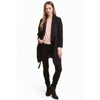 H&M Drapowany płaszcz 0320686001 Czarny
