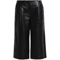 MICHAEL Michael Kors Spodnie skórzane black MK121A03K-Q11