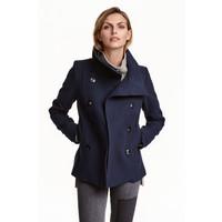 H&M Dwurzędowa kurtka 0390162001 Ciemnoniebieski