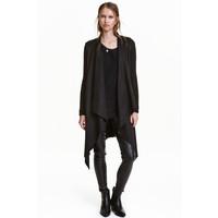 H&M Płaszcz z domieszką wełny 0420715001 Czarny