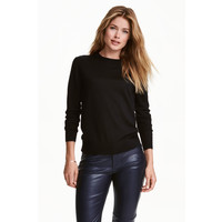 H&M Sweter z wełny merynosowej 0317458003 Czarny