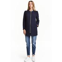 H&M MAMA Krótki płaszcz 0401829002 Ciemnoniebieski