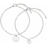 H&M Bransoletka 2-pak 0452515001 Silver