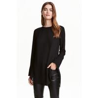 H&M Bluzka z długim rękawem 0421249007 Czarny