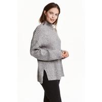 H&M Sweter z półgolfem 0428591002 Szary melanż
