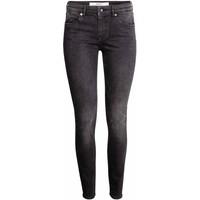 H&M Spodnie superstretch 0256151006 Czarny sprany