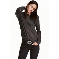 H&M Cienki sweter 0358483001 Ciemnoszary