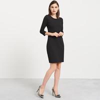Reserved Sukienka z ozdobnym dekoltem QD352-99X
