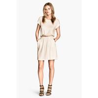 H&M Dżersejowa sukienka 0202017053 Naturalna biel