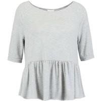 Vila VIKITTA T-shirt z nadrukiem light grey melange V1021D0DN-C11