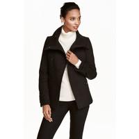 H&M Dwurzędowa kurtka 0390162002 Czarny