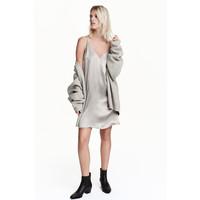 H&M Sukienka na ramiączkach 0444767003 Srebrny