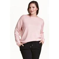 H&M H&M+ Cienki sweter 0292496016 Jasnoróżowy melanż