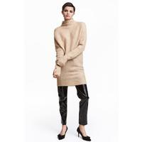 H&M Sweter oversize 0409401002 Beżowy melanż