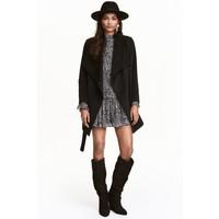 H&M Krótki płaszcz 0437150001 Czarny