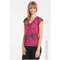 Monnari T-shirt z kwiatowym nadrukiem TSHIMP0-16J-TSH4440-KM05D004-R0S