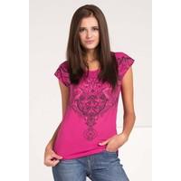 Monnari T-shirt z etno nadrukiem TSHIMP0-16J-TSH4410-KM04D004-R0S