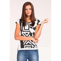 Monnari T-shirt black&white TSHIMP0-16J-TSH4560-KM00D004-R0S
